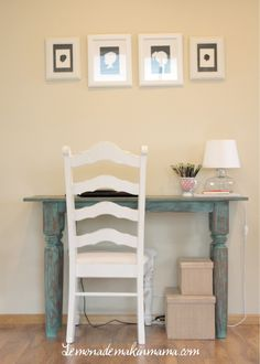 How do we feel about a tiny little desk on the wall that is in the hallway but separates the living room from the kitchen? We could even have a bench instead of a chair to save more space. We could keep our bills and other important documents there? A decision to be made later, but it could be cute.