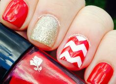 50 Red Nail Art Designs and ideas to express your attitude Love Nails, How To Do Nails, Pretty Nails, Fun Nails, Red Nail Designs, Colorful Nail Designs, Acrylic Nail Designs, Holiday Nails, Christmas Nails