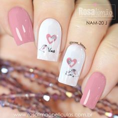 Chic Nail Art, Elegant Nail Art, Pink Nail Art, Gel Nail Art, Nail Manicure, Pink Nails, Latest Nail Designs, Nail Art Designs, Fancy Nails