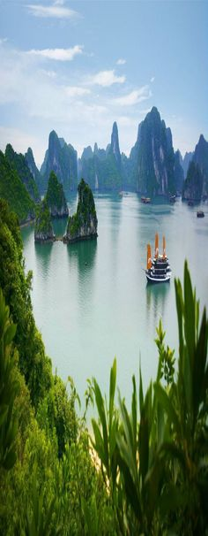 Ha Long Bay located in Northeast Vietnam includes over 1600 islands and islets that form the province. The Ha Long Bay is known for its emerald waters and thousands of towering limestone islands. T…