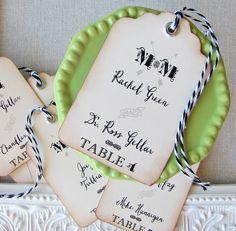 Vintage Wedding Escort Card Tag Place Card  by SunshineandRavioli