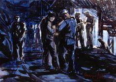 The Athenaeum - Coal Miners (George Benjamin Luks - )