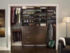 Cleaned-up mens closet contemporary closet