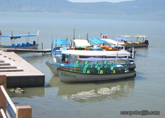 Water taxis on Lake Chapala in Mexico.