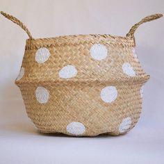 Seagrass Basket | White Spots | Fazeek