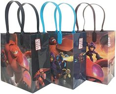 "nice Disney Big Hero 6 Premium Quality Party Favor Goodie Medium 8"" Gift Bags 12 (12 Bags) Check more at http://partythemesforbirthday.com/product/disney-big-hero-6-premium-quality-party-favor-goodie-medium-8-gift-bags-12-12-bags/"