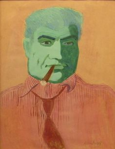 Portrait of Vincent Spano by Milton Avery, circa 1942-43, gouache on paper, 24 x 18"