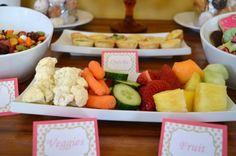 Woodland themed baby shower - quiche fruit veggies