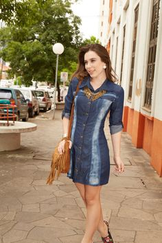 #vestido #jeans