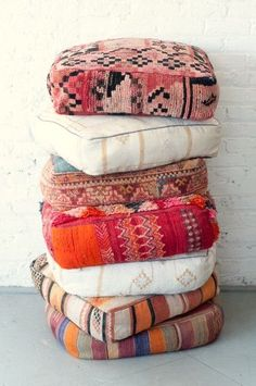 We can just stack these Moroccan Floor pillows all day, every day! Couldn't yo… We can just stack these Moroccan Floor pillows all day, every day! Couldn't you? Moroccan Floor Pillows, Moroccan Decor, Large Floor Cushions, Boho Cushions, Moroccan Rugs, Giant Floor Pillows, Moroccan Lounge, Moroccan Fabric, Patio Pillows