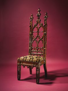 A Gothic Revival 'Stanton Hall Type' Carved Oak Side Chair, New York, CIRCA 1845-60   lot   Sotheby's