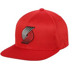 Portland Trail Blazers Mitchell  amp  Ness Jersey Mesh Snapback Adjustable  Hat - Red Trail Blazers b204a19440d8