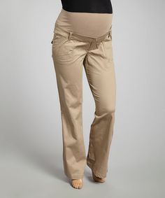 Another great find on #zulily! Khaki Bedford Over-Belly Straight-Leg Pants - Women #zulilyfinds