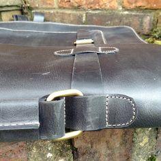 Leather Messenger Bag Briefcase for Men Retro by VaskaStudio