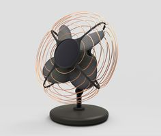 Amazing desk fan - beat the heat chic. Tom Dixon, Desk Fan, Industrial Design Sketch, Curved Glass, 3d Models, Flyer, Design Lab, Minimal Design, Cool Gadgets