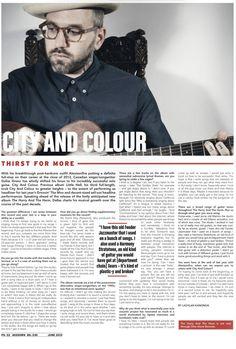 City and Colour Mixdown feature June
