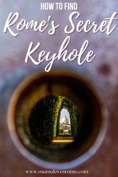 Did you know Rome has a secret keyhole from where you can spy St Peter's Dome? Discover how to find it in this guide to Rome's secret keyhole location Italy Travel Tips, Rome Travel, Rome Outfits, Rome Hotels, Visit Italy, Travel Articles, Italy Vacation, Travel Guides, Trip Planning