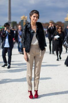 101 Ways to Wear a Leather Jacket This Spring | StyleCaster