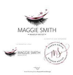 Makeup Logo Design Lashes Logo Makeup Rose Gold Lash artist