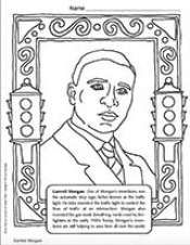 Garrett Morgan Coloring Page African American History Month