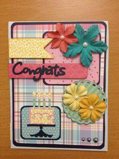 Scrapbooking card congrats