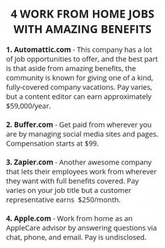 4 work from home jobs with amazing benefits Ways To Earn Money, Earn Money From Home, Earn Money Online, Online Jobs, Money Saving Tips, Way To Make Money, Online Careers, Online Blog, Online Earning