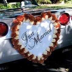La pancarte en forme de coeur Just married