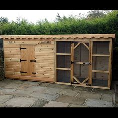 This is the largest of all Ryedale Pet Homes products, the Rabbit Shed With Run. So large it can contain other hutches and the usual quality build applies. Large Rabbit Run, Large Rabbit Hutch, Large Rabbits, Rabbit Hutches, Backyard Chicken Coop Plans, Backyard Sheds, Building A Chicken Coop, Chickens Backyard, House Building