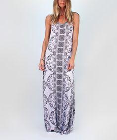 Look at this #zulilyfind! Ebony Between the Bars Maxi Dress #zulilyfinds