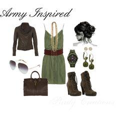 """Army Green"" by gcwfarmgirl on Polyvore"