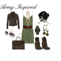 """Army Green"" by gcwfarmgirl on Polyvore"