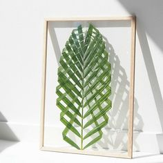 DIY Leaf Art Found:  http://ift.tt/1JWLeiE  #leafart #palm #natural #diy #ikea #ribba