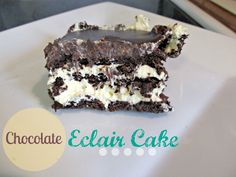 Little Mudpies: Chocolate Eclair Cake