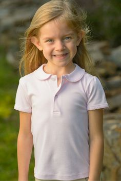 Girl's Polo Pink - Classic Luxury Baby and Children's clothing | KelseyMaclean.com