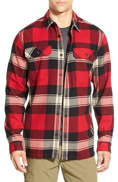 Patagonia 'Fjord' Regular Fit Organic Cotton Flannel Shirt available at #Nordstrom