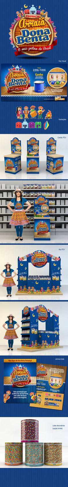 Conceito visual e materiais de PDV para compre e ganhe durante as festas juninas.