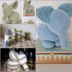 Endelig elefantopskrift. | Dutterier | Bloglovin' Diy Crochet Toys, Crochet Art, Crochet Animals, Crochet Projects, Free Crochet, Baby Barn, Crochet Elephant, Baby Presents, Bears