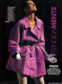 """Esplendidamente Italia"", Elle Spain, March 1991 Yasmin Le Bon"