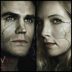 The Vampire Diaries   Stefan and Caroline - Season 8 Character Poster #Steroline #TVDForever