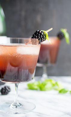 Blackberry Basil Shrub by Taste Love and Nourish