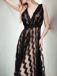 Black V Neck Backless Maxi Dress,    #Party/Cocktail_Dresses,    #dress150720601
