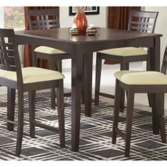The Hillsdale Furniture Tiburon 5 Piece Counter Height Dining Table Set is a wonderful way to upgrade your kitchen dinette or full dining room for something. Dining Room Furniture Sets, Dining Room Sets, Dining Table In Kitchen, Bar Furniture, Kitchen Furniture, A Table, Room Kitchen, Dining Tables, Pub Tables
