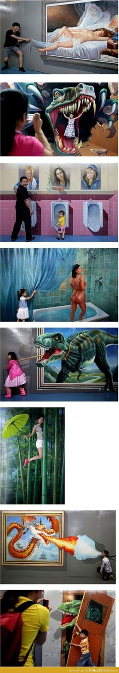 Awesome Interactive 3D Paintings
