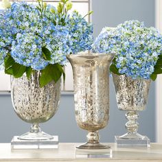 love the glass vases. so girly