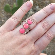 Ring A Day Challenge 2015 Day 12: Pink Jade In Silver Tone Ring size 7.5 See the entire project at https://www.facebook.com/media/set/?set=a.750193175076911.1073741853.231724523590448&type=3
