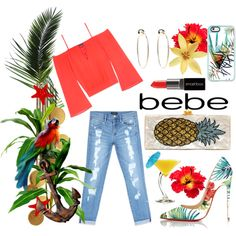 All Laced Up for Spring with bebe: Contest Entry-tropical bebe by kc-spangler on Polyvore featuring Bebe, Christian Louboutin, Edie Parker, Casetify, Smashbox and alllacedup