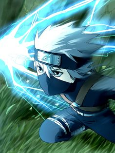 The young Hatake Kakashi.