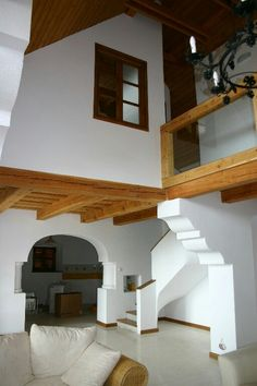 Interior Architecture, Interior Design, English Style, Cabana, Cottage, Kitchen Styling, Living Room, Building, Stairs