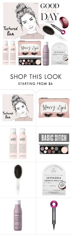 """""""Good Hair Day"""" by groove-muffin ❤ liked on Polyvore featuring beauty, Accessorize, MAC Cosmetics, Leonor Greyl, Sephora Collection, Living Proof, Dyson and Tangle Teezer"""