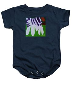Purchase a Patrick Francis Navy Blue Designer Baby Onesie featuring the image of Zebra 2014 by Patrick Francis.  Available in sizes S - XL.  Each onesie is printed on-demand, ships within 1 - 2 business days, and comes with a 30-day money-back guarantee.